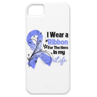 Héroe de la cinta del cáncer de estómago en mi funda para iPhone 5 barely there