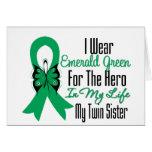 Héroe de la cinta del cáncer de hígado mi hermana  tarjeton