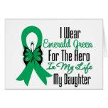 Héroe de la cinta del cáncer de hígado mi hija felicitacion