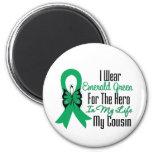 Héroe de la cinta del cáncer de hígado mi primo imán para frigorífico
