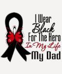 Héroe de la cinta del cáncer de piel mi papá camisetas