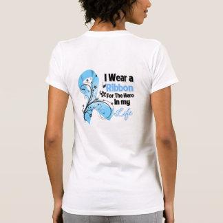 Héroe de la cinta del cáncer de próstata en mi vid camisetas