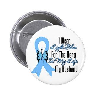 Héroe de la cinta del cáncer de próstata mi marido pins