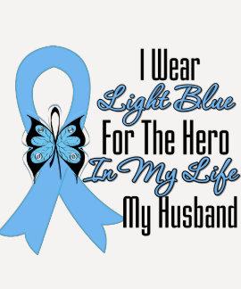 Héroe de la cinta del cáncer de próstata mi marido playera