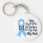 Héroe de la cinta del cáncer de próstata mi papá llaveros