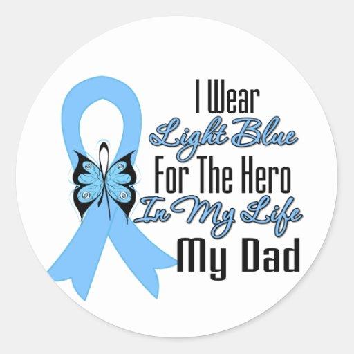 Héroe de la cinta del cáncer de próstata mi papá etiquetas redondas