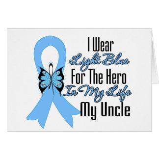 Héroe de la cinta del cáncer de próstata mi tío tarjeta de felicitación
