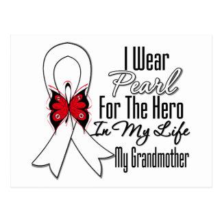 Héroe de la cinta del cáncer de pulmón mi abuela postales