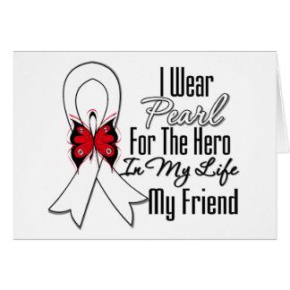 Héroe de la cinta del cáncer de pulmón mi amigo tarjetón