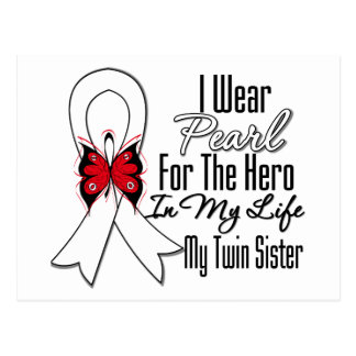 Héroe de la cinta del cáncer de pulmón mi hermana  tarjetas postales