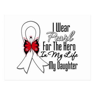 Héroe de la cinta del cáncer de pulmón mi hija postales
