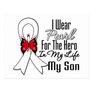 Héroe de la cinta del cáncer de pulmón mi hijo tarjeta postal