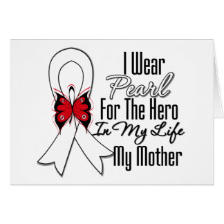 Héroe de la cinta del cáncer de pulmón mi madre tarjeta