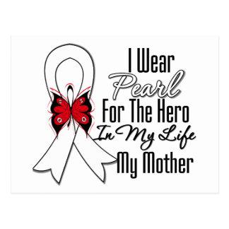Héroe de la cinta del cáncer de pulmón mi madre tarjeta postal