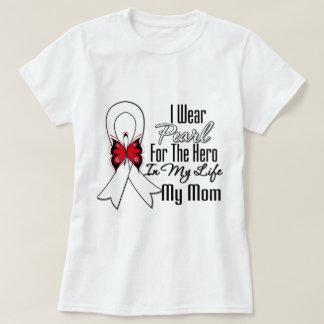 Héroe de la cinta del cáncer de pulmón mi mamá polera