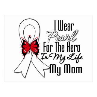 Héroe de la cinta del cáncer de pulmón mi mamá postal