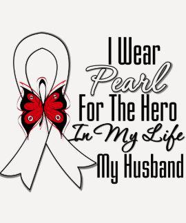 Héroe de la cinta del cáncer de pulmón mi marido camisas