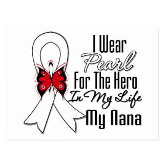 Héroe de la cinta del cáncer de pulmón mi Nana Tarjeta Postal