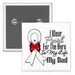 Héroe de la cinta del cáncer de pulmón mi papá pin