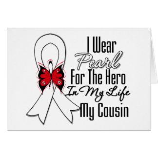 Héroe de la cinta del cáncer de pulmón mi primo tarjetón