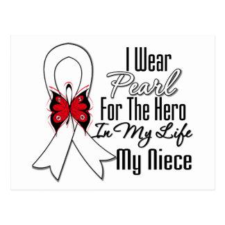 Héroe de la cinta del cáncer de pulmón mi sobrina tarjetas postales