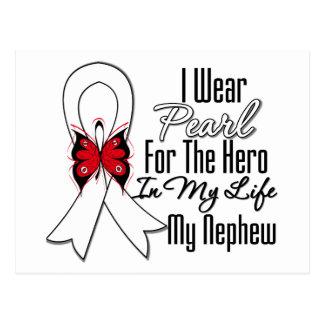 Héroe de la cinta del cáncer de pulmón mi sobrino tarjetas postales