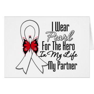 Héroe de la cinta del cáncer de pulmón mi socio felicitacion