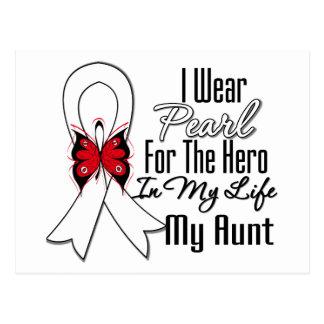 Héroe de la cinta del cáncer de pulmón mi tía postal