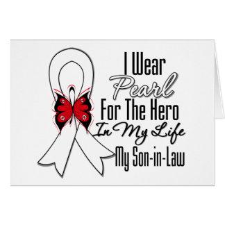 Héroe de la cinta del cáncer de pulmón mi yerno tarjeton
