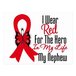 Héroe de la cinta del cáncer de sangre en mi vida tarjeta postal