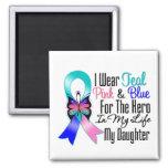 Héroe de la cinta del cáncer de tiroides mi hija imán para frigorifico
