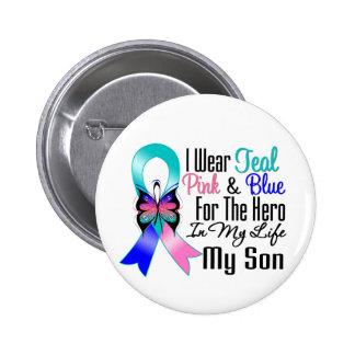 Héroe de la cinta del cáncer de tiroides mi hijo pin