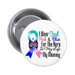 Héroe de la cinta del cáncer de tiroides mi mamá pin