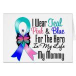 Héroe de la cinta del cáncer de tiroides mi mamá tarjetas