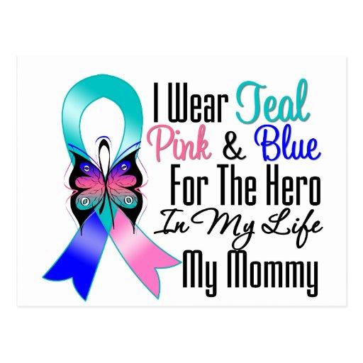 Héroe de la cinta del cáncer de tiroides mi mamá postal