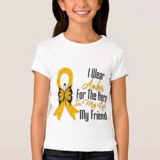 Héroe de la cinta del cáncer del apéndice mi amigo camisas