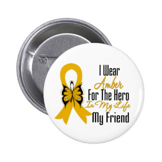 Héroe de la cinta del cáncer del apéndice mi amigo pins