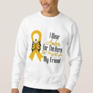 Héroe de la cinta del cáncer del apéndice mi amigo suéter