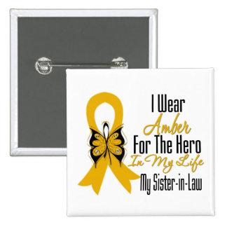 Héroe de la cinta del cáncer del apéndice mi cuñad pins