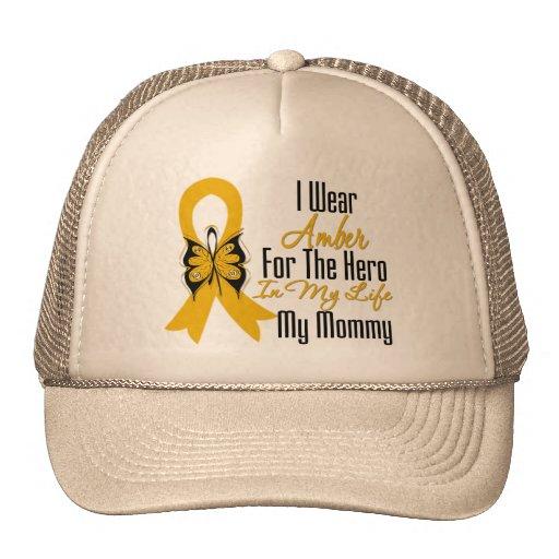 Héroe de la cinta del cáncer del apéndice mi mamá gorra