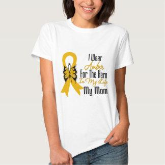 Héroe de la cinta del cáncer del apéndice mi mamá playera