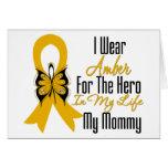 Héroe de la cinta del cáncer del apéndice mi mamá tarjetas
