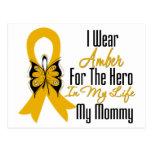 Héroe de la cinta del cáncer del apéndice mi mamá postales
