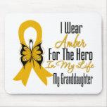 Héroe de la cinta del cáncer del apéndice mi nieta alfombrillas de ratones