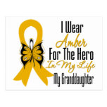 Héroe de la cinta del cáncer del apéndice mi nieta postales