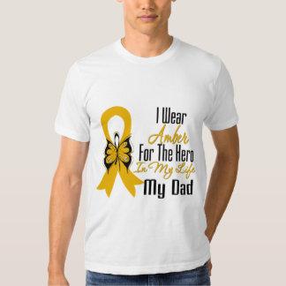 Héroe de la cinta del cáncer del apéndice mi papá camisas