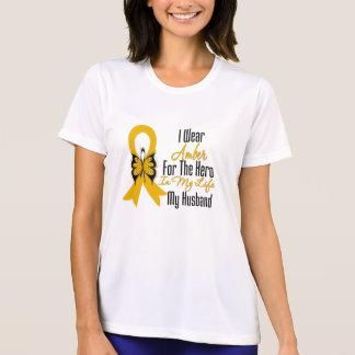 Héroe de la cinta del cáncer del apéndice mi remera