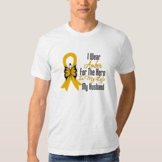 Héroe de la cinta del cáncer del apéndice mi remeras