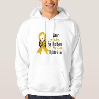 Héroe de la cinta del cáncer del apéndice mi sudadera encapuchada