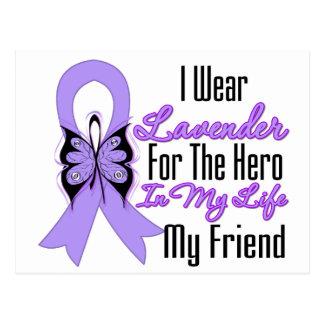 Héroe de la cinta del cáncer en mi vida mi amigo tarjetas postales